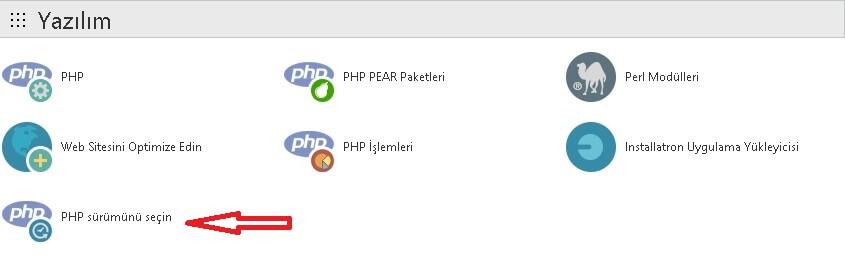 cpanel php sürümü
